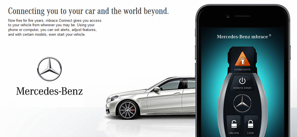 Mercedes benz usa launches mbrace connect for all my2016 for Mercedes benz remote start app